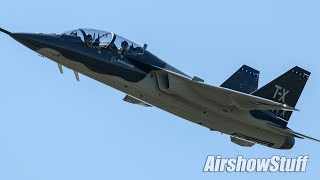 Rare Catch! Boeing/Saab T-X Prototype Flybys - St Louis Airshow 2019