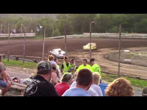Hummingbird Speedway (7-15-17): Swanson Heavy Duty Truck Repair Semi-Late Model Heat Race #3