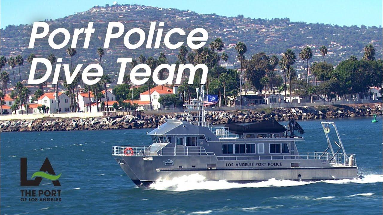 Los angeles port police dive team youtube for La port police