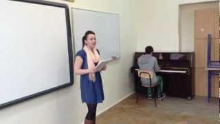 Eliminacje szkolne Konkursu Piosenki Angielskiej w V LO w Tarnowie