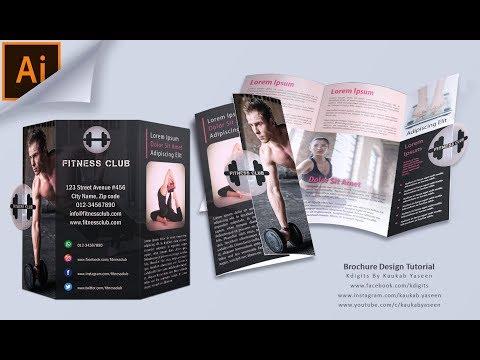 How to make Tri Fold Brochure (Fitness Club) | Illustrator Tutorial