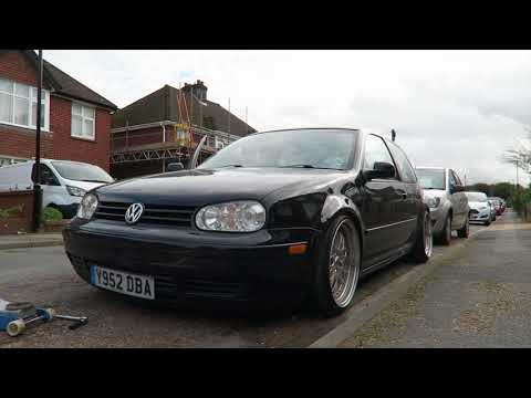 DESTROYING THE GOLF WITH REPLICA WHEELS