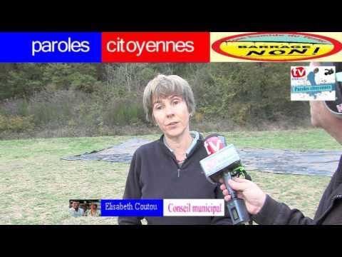 Télévision-Bordeaux-33 reportage sur le Barrage de Sivens Tarne Garonne