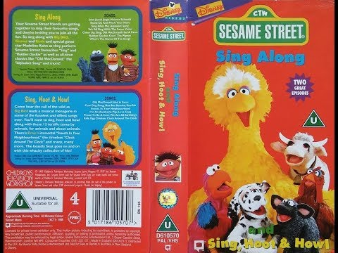 Sesame Street - Sing Along and Sing, Hoot and Howl (1998, UK VHS)