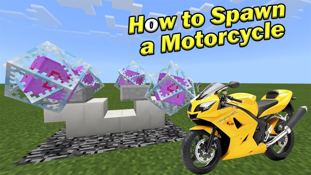 how to make a motorcycle in minecraft pe that works