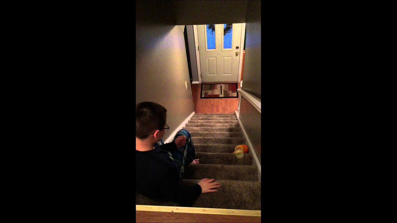 how to make a slinky go down the stairs