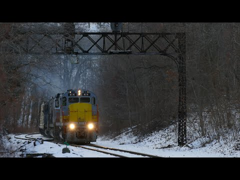 Winter Wonderland On The Delaware-Lackawanna: Chasing PO-74 With The Lehigh Valley C420 414 1/20/20