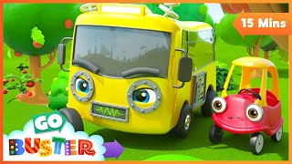 Robot Buster is Being Mean! Song! | Go Buster | Baby Cartoons | Kids Videos | ABCs and 123s