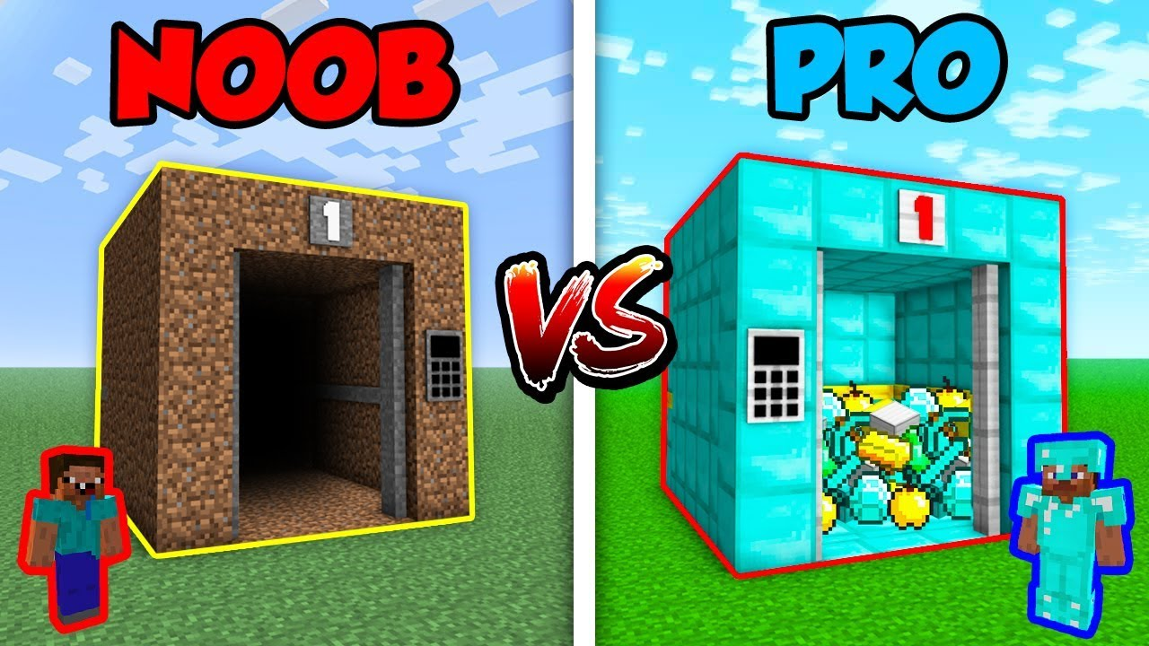 Minecraft NOOB vs. PRO: ELEVATOR in Minecraft!