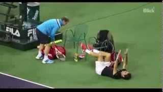 Roger Federer Practice - Indian Wells 2014