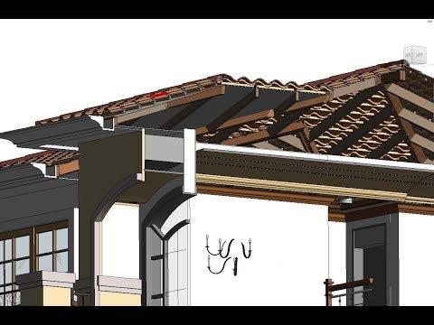 REVIT tile roof 3D PART 1