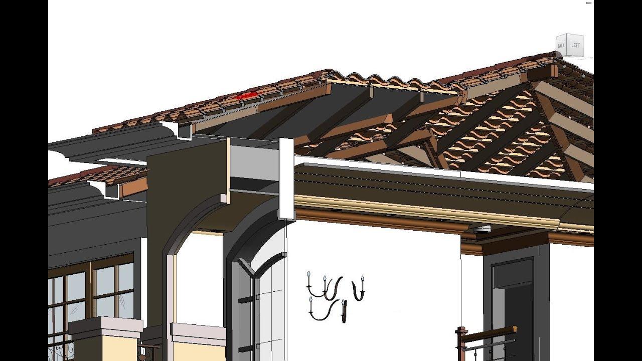 Revit Tile Roof 3d Part 1 Youtube