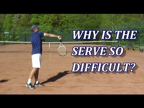 Why Is The Serve In Tennis So Difficult? One Main Reason...