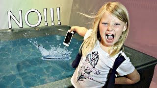 My Mom's iPhone in a Hot Tub PRANK!!