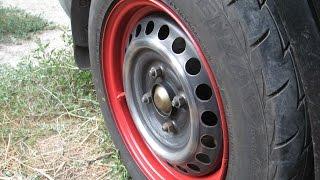 Как покрасить диски на автомобиль.