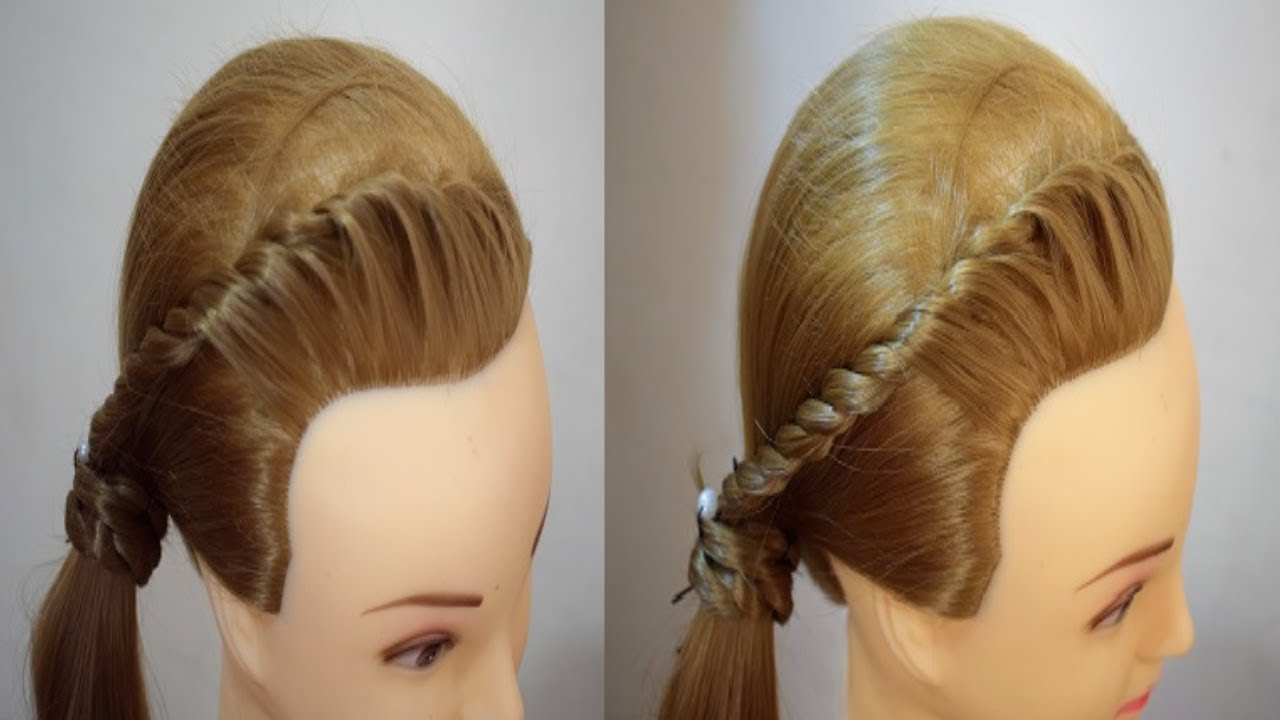 Side Twist Ponytail For Attractive Looks Easy Hairstyles Everyday