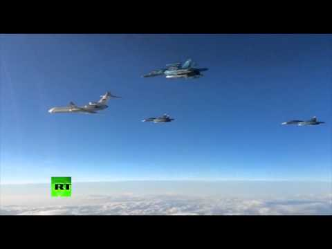 RAW: First batch of Russian fighter jets leaving Syria