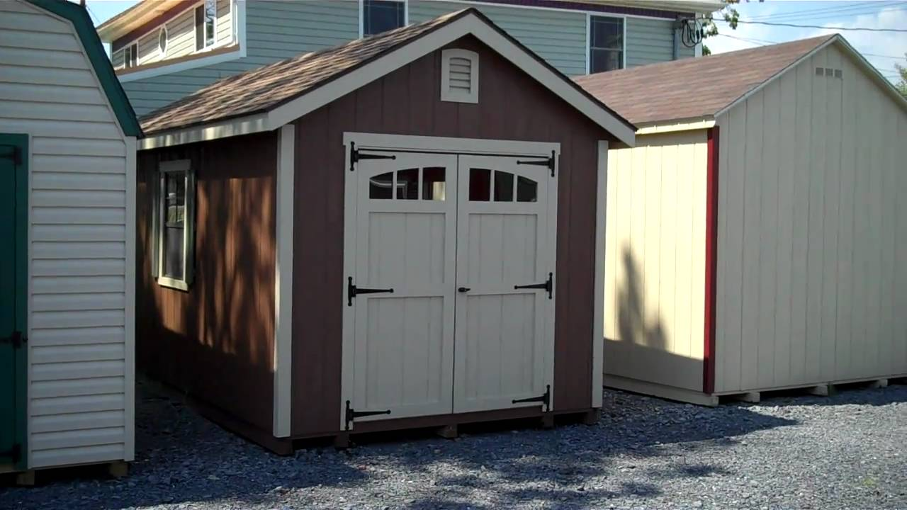 10x16 A-Frame Structure, Sheds Alan\'s Factory Outlet Luray VA - YouTube