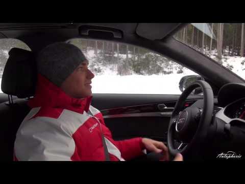 Edoardo Mortara im Audi A8 auf Eis - Audi Driving Experience