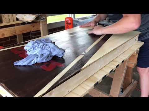 Cornhole Board Prep and Waxing