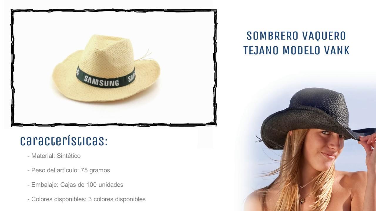 Sombreros personalizados baratos  Sombrero vaquero cowboy Vank - YouTube 4139657af83