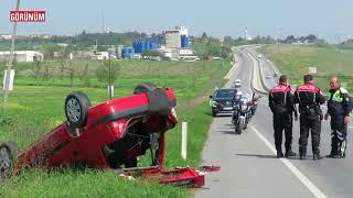 Lüleburgaz çıkışında kaza