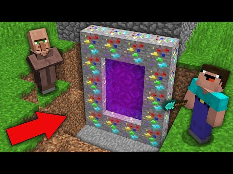 Minecraft NOOB Vs PRO: WHY VILLAGER HIDE THIS SECRET MULTI ORE PORTAL FROM NOOB? 100% Trolling