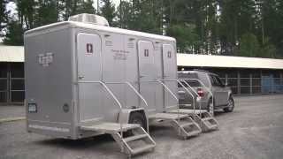 Portable Restroom Trailer | Portable Restroom Trailer for Sale  | Silver 3 Station