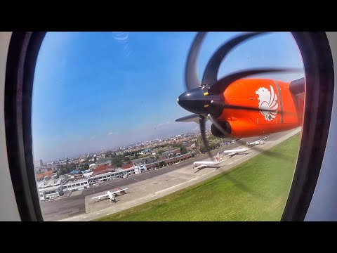 Wings Air ATR72-600 POWERFUL TAKE OFF in Bandung Airport