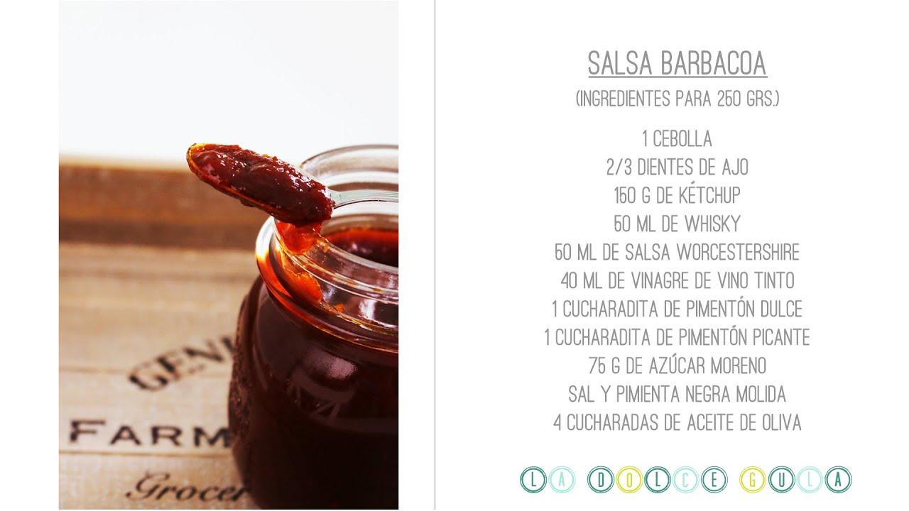 La dolce gula recetas receta salsa barbacoa casera bbq - Hacer barbacoa casera ...
