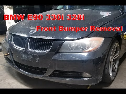 BMW e90 3-Series Front Bumper Cover Removal - YouTubeYouTube