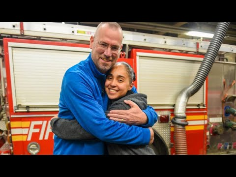 Hugs as Fire Academy Graduate Meets FDNY Firefighter Who Saved Her Life in 2002