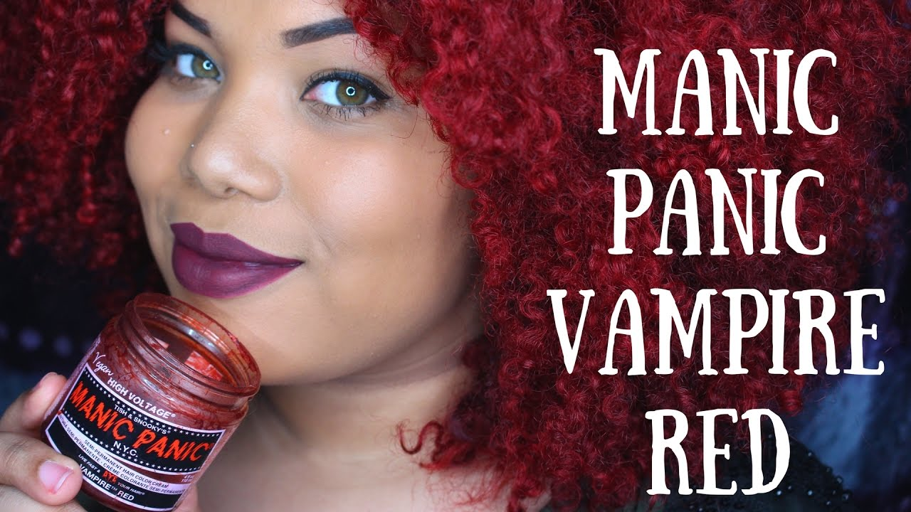 Manic Panic Vampire Red Hair Dye Answering Questions On My Color