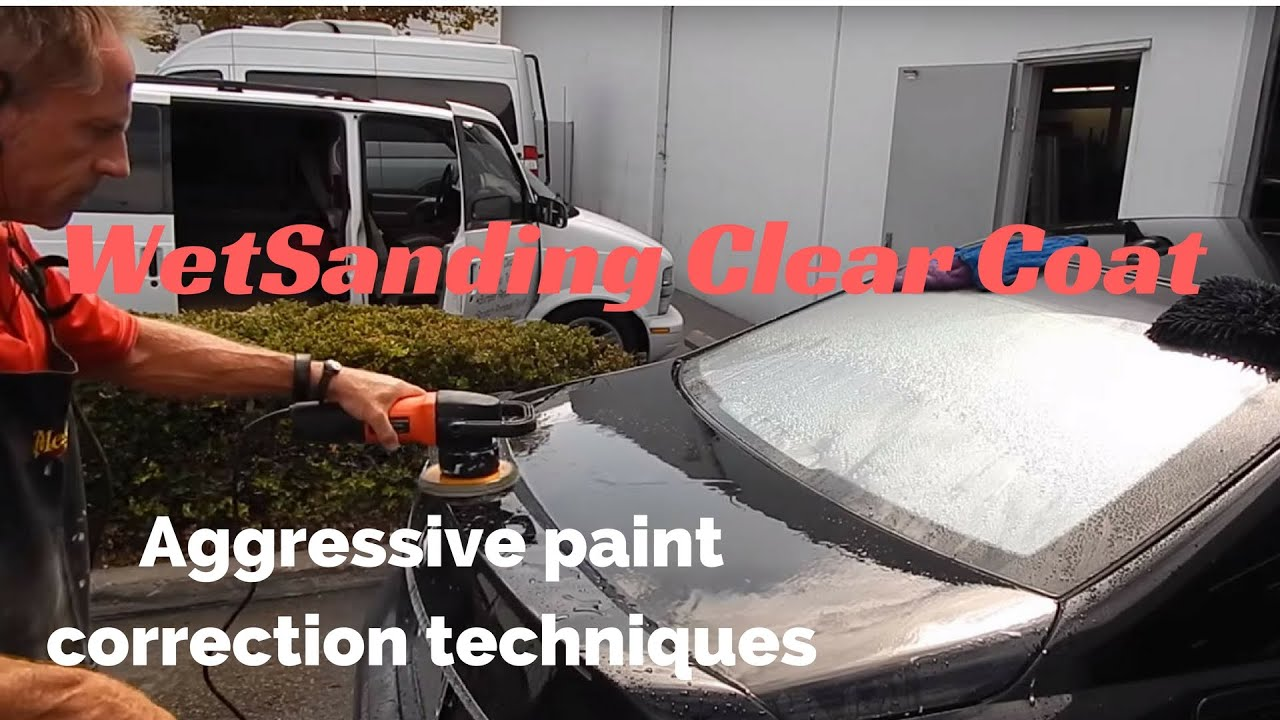 Wet Sanding Clear Coat >> Wet Sanding Clearcoat Aggressive Paint Correction And Car Polishing A Black Car