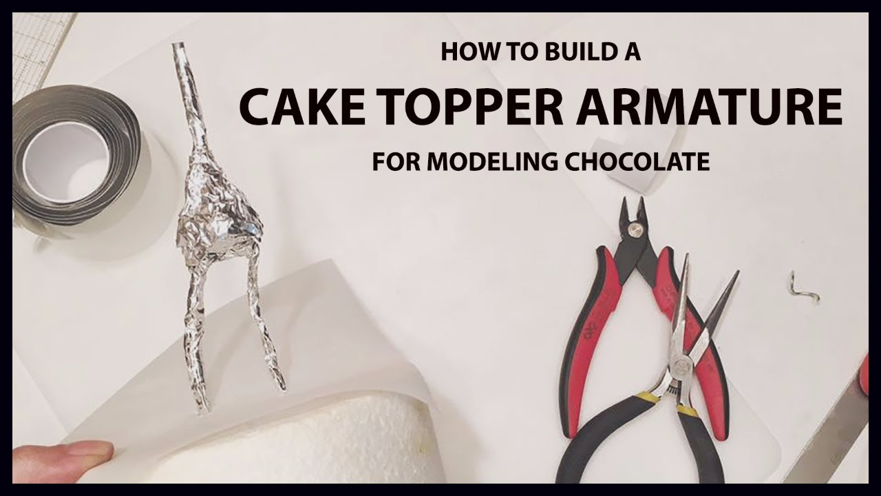 How to Build a Cake Topper Armature Tutorial for Modeling Chocolate ...