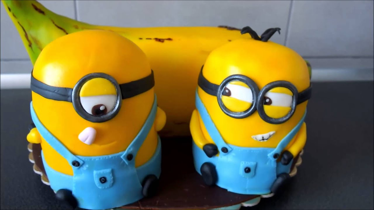 Banana and Despicable me minions cake / Tort z bananem i minionkami ...