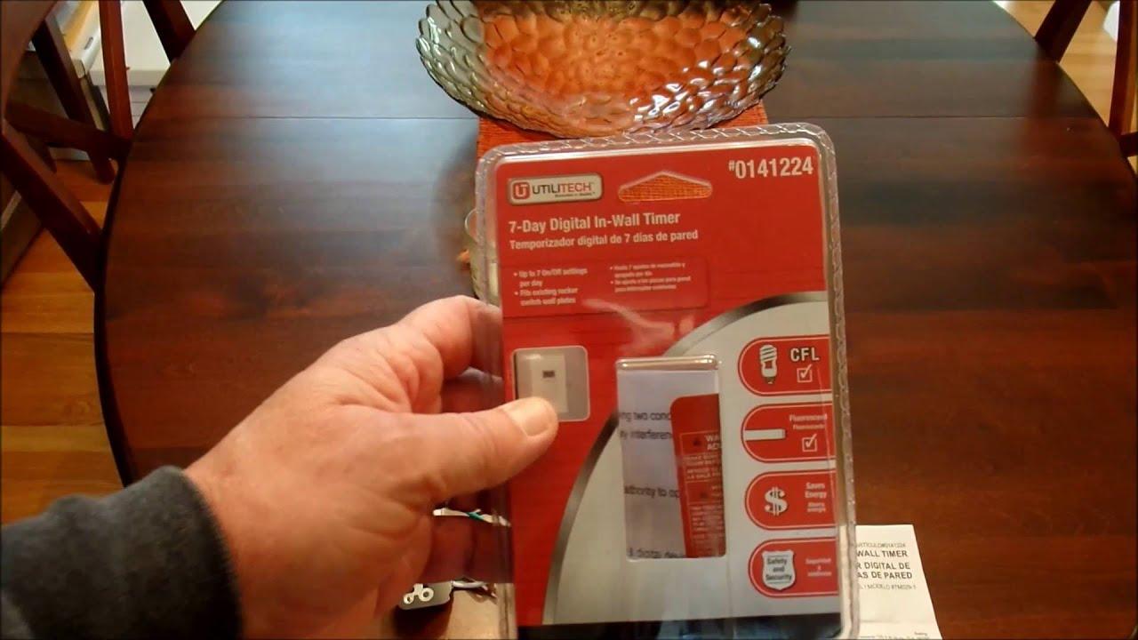 Wiring Utilitech Wall Timer