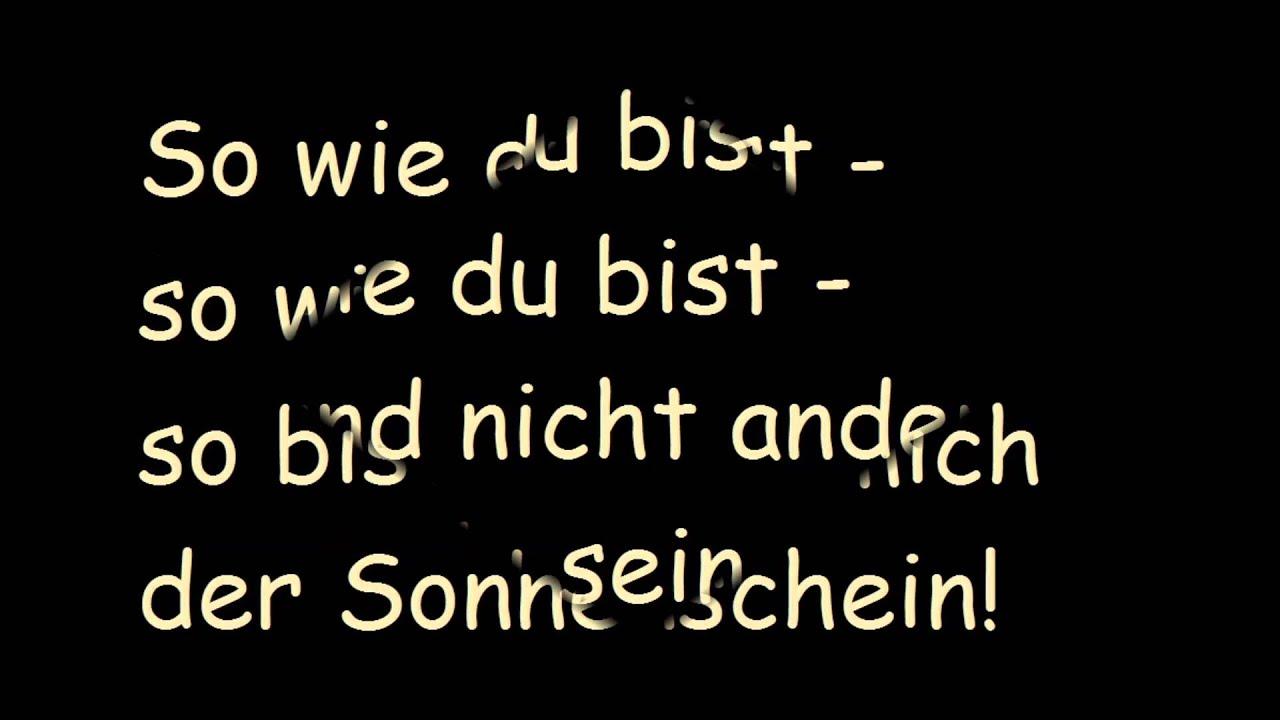 Rolf Zuckowski Weihnachtslieder Texte.Rolf Zuckowski So Wie Du Bist Lyrics