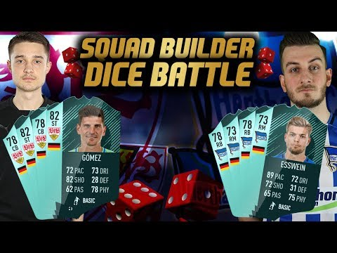 FIFA 18: SQUAD BUILDER DICE BATTLE - Hertha BSC vs VfB Stuttgart FUT Prognose