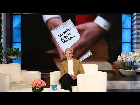 Ellen Takes a Closer Look at the President's Cheat Sheets
