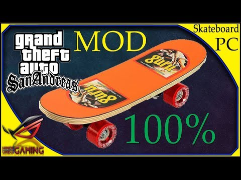How To Install Skateboard Mod In GTA San Andreas PC || Hindi Urdu
