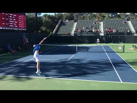 Stanford vs UCLA #3 Singles End of Match 2-4-18