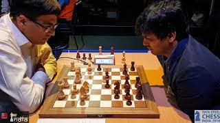 Oh My God! Look at the clock! Anand vs Harikrishna | Tata Steel Chess India Blitz 2018