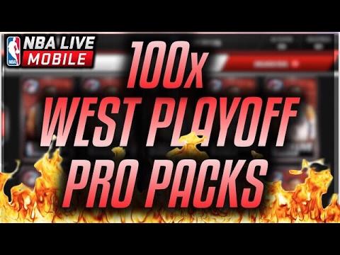 NBA LIVE MOBILE | 100x WESTERN PLAYOFF PRO PACKS! ELITES EVERYWHERE!