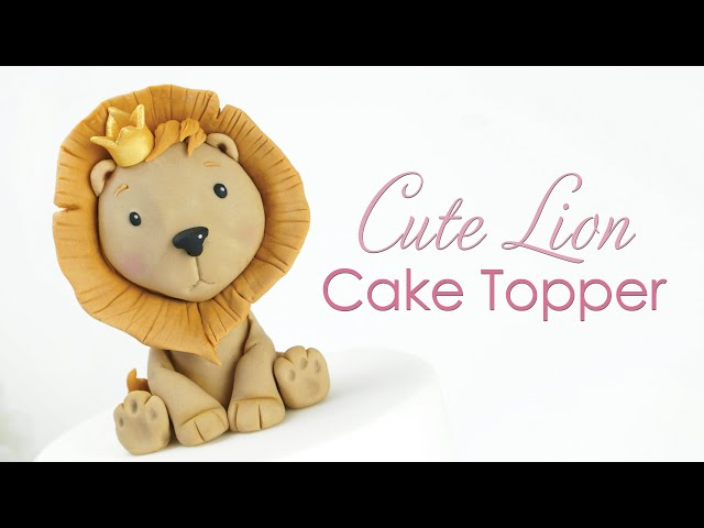 How to make a Cute Lion Cake Topper Tutorial