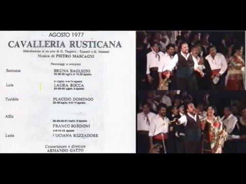 """P. MASCAGNI. """"CAVALLERIA"""" VERONA 1977 P. DOMINGO. PRIMA PARTE"""