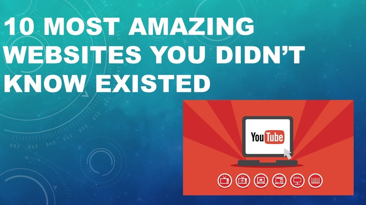 10 Most Amazing Cool Websites You Didn't Know Existed - YouTube