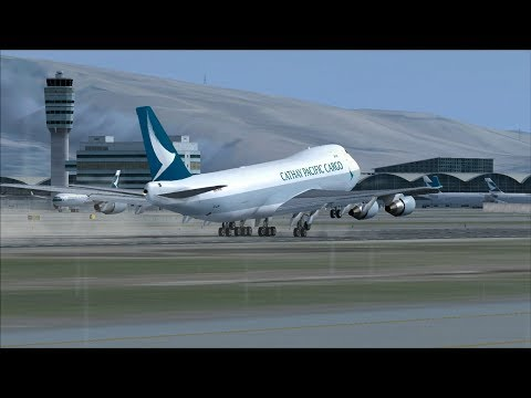 Cathay pacific Cargo New Colors (HKG) Hong Kong Immersion Departure