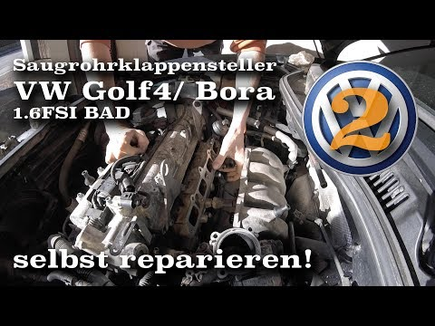 Фото к видео: Springt er wieder an? Saugrohrklappensteller VW/ Audi 1.6FSI BAD reparieren - Teil 2