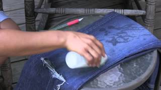 How Do I Make Work Jeans Look Old? : Rockin